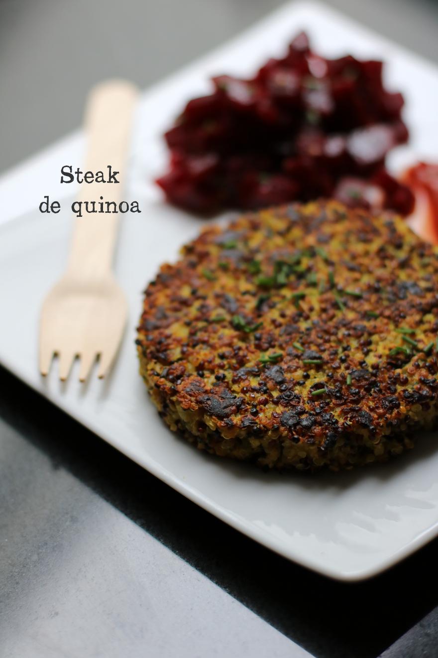 Galette de quinoa / Steak végétarien