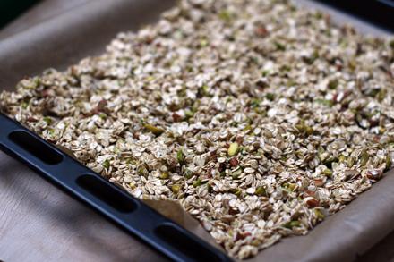 Granola maison avant cuisson