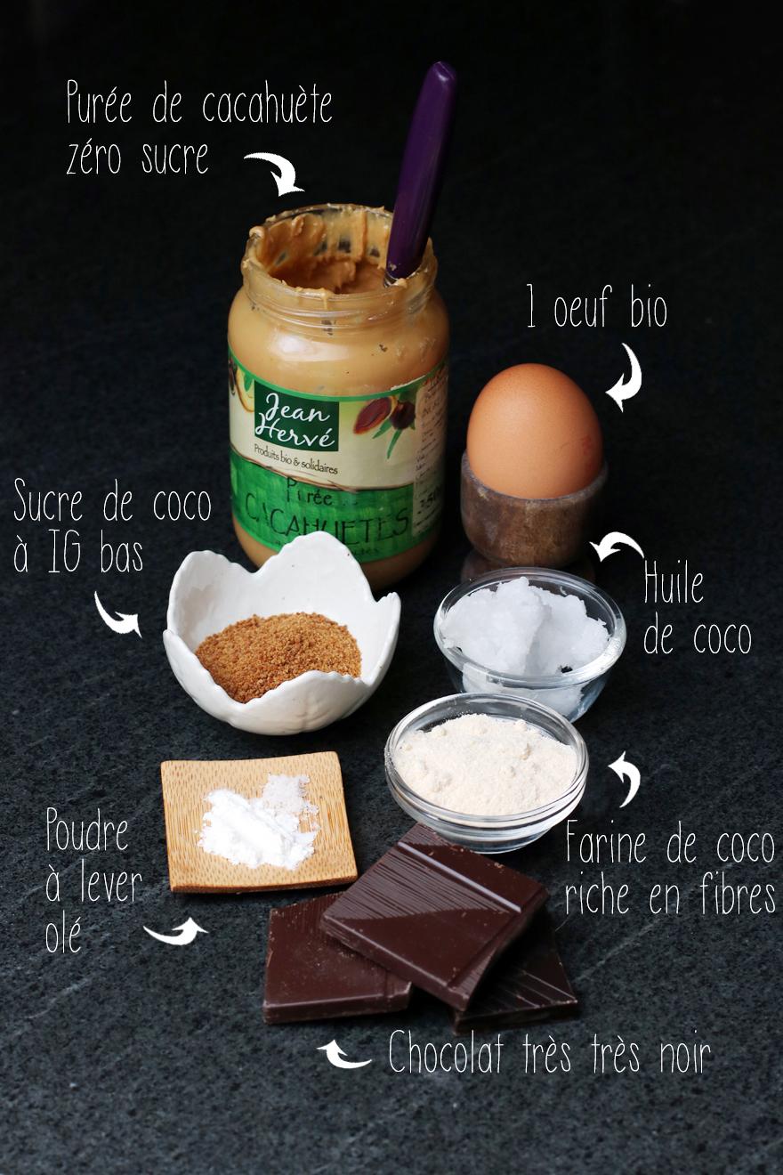 Ingrédients des cookies sans gluten/lactose