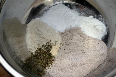 Ingredients des gaufres salées vegan et sans gluten