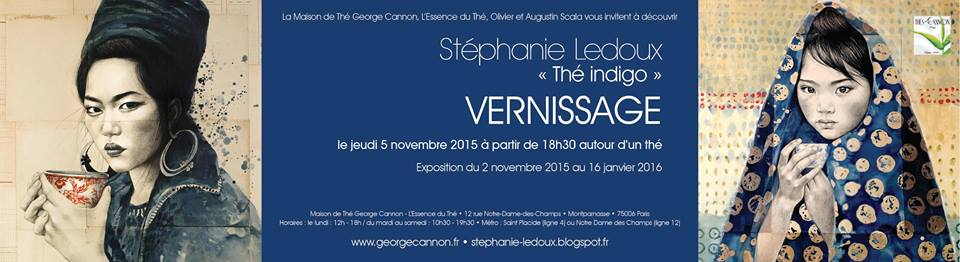 Expo Thé indigo Stéphanie Ledoux