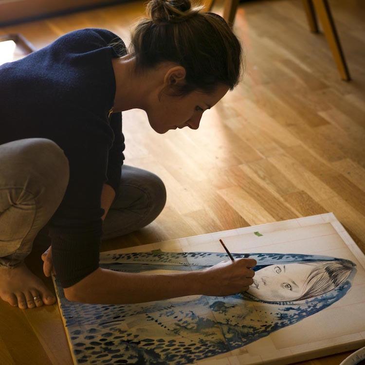 Peinture indigo par Stéphanie Ledoux