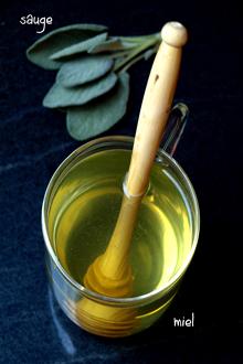 Infusion sauge et miel
