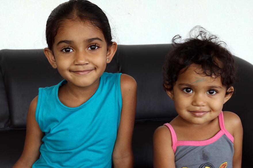 Petites filles sri-lankaises