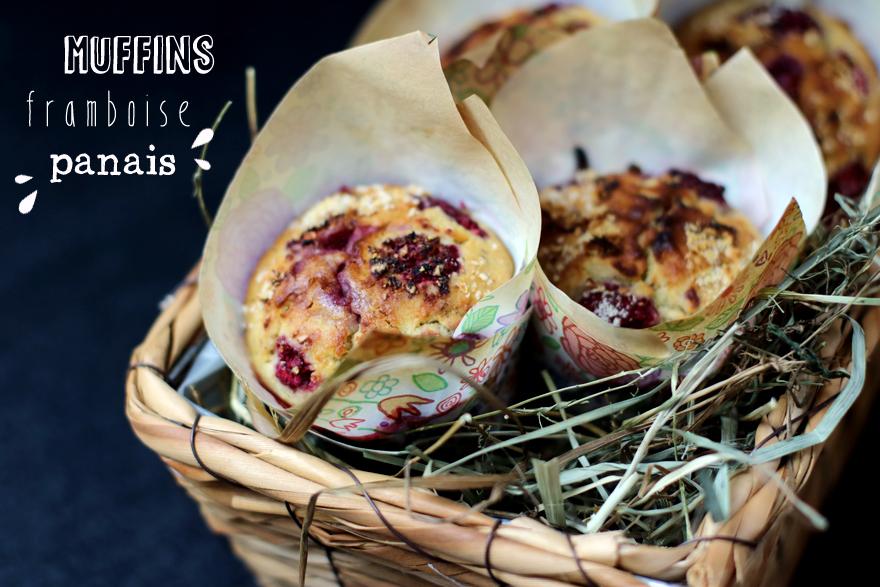 Muffins sans gluten, vegan aux framboises et panais