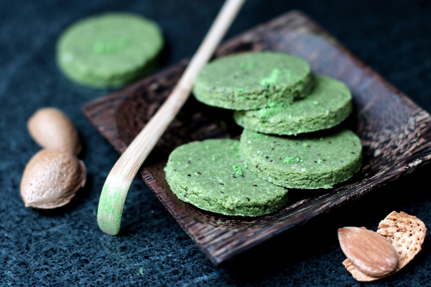 Raw cookies almond matcha chai seeds