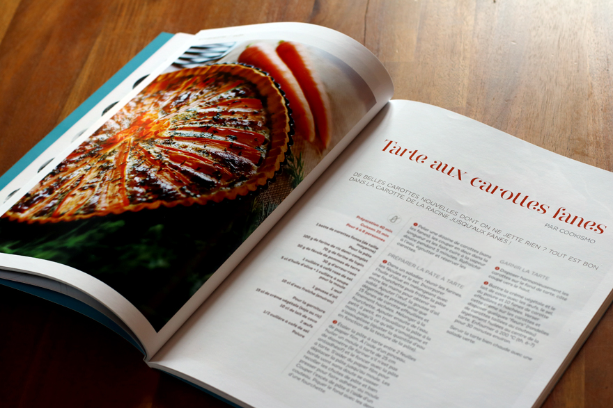 Recette tarte carottes fanes sans gluten