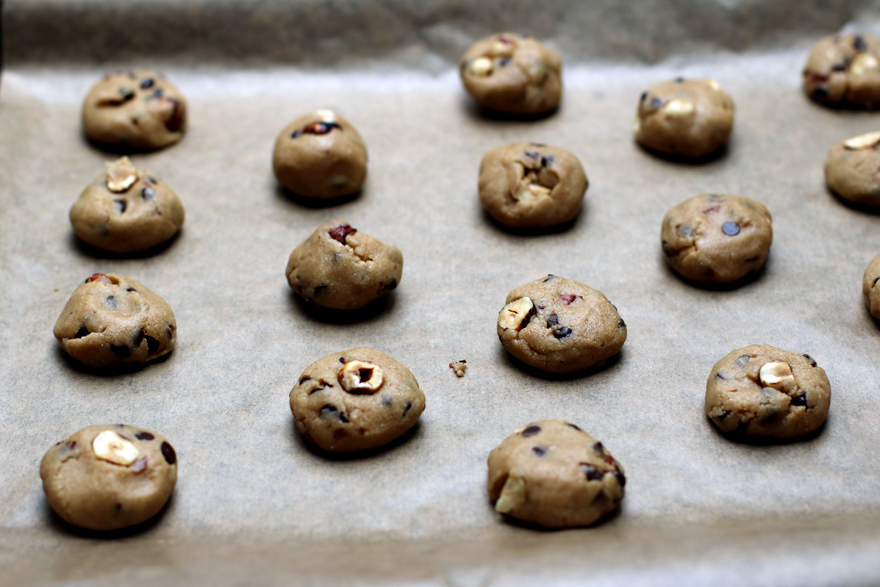 Cookies sans gluten avant cuisson