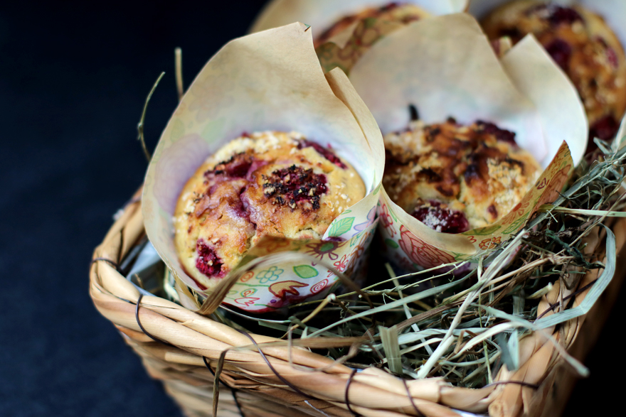 Muffins sans gluten framboise et panais
