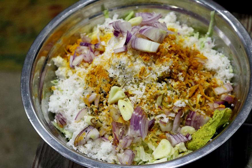Ingrédients salade de chou à la noix de coco