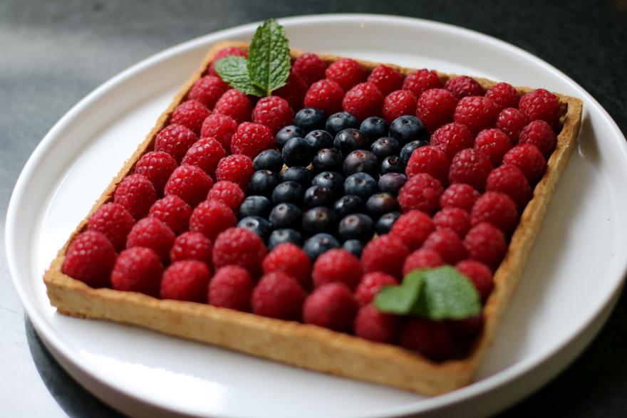 Tarte sans gluten framboise-amande - Glutenfree almond raspberries pie