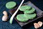 Recette  biscrus amande, matcha et chia
