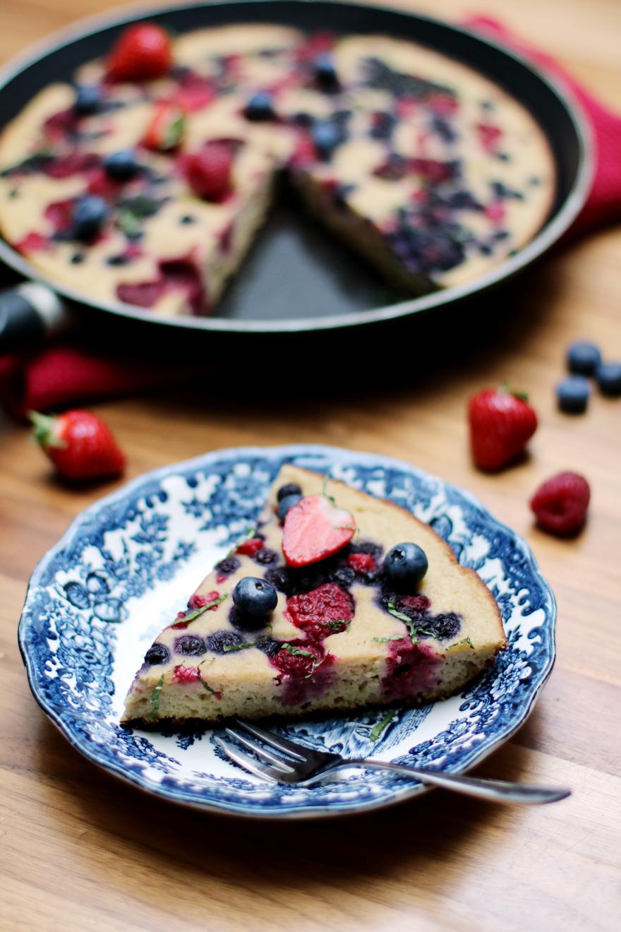 Gâteau sans gluten cuit à la poêle