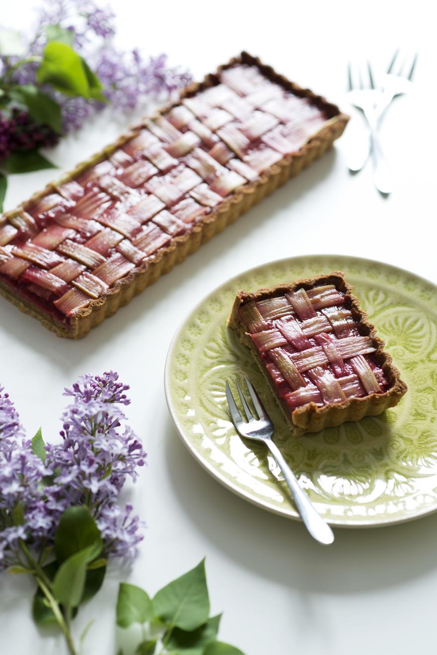 Tarte à la rhubarbe - Recette Christelle Vogel