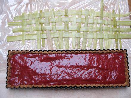 Tressage de la tarte à la rhubarbe