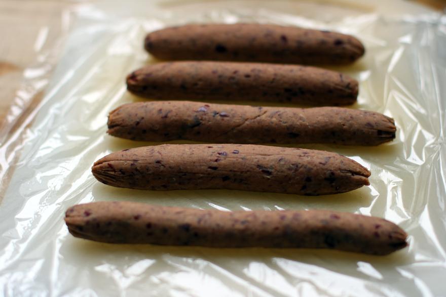 Façonnage saucisses végétariennes
