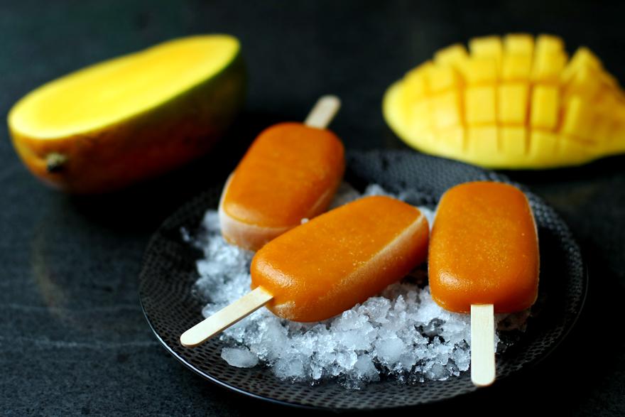 Sorbet mangue en bâtonnet - Mango popsicles