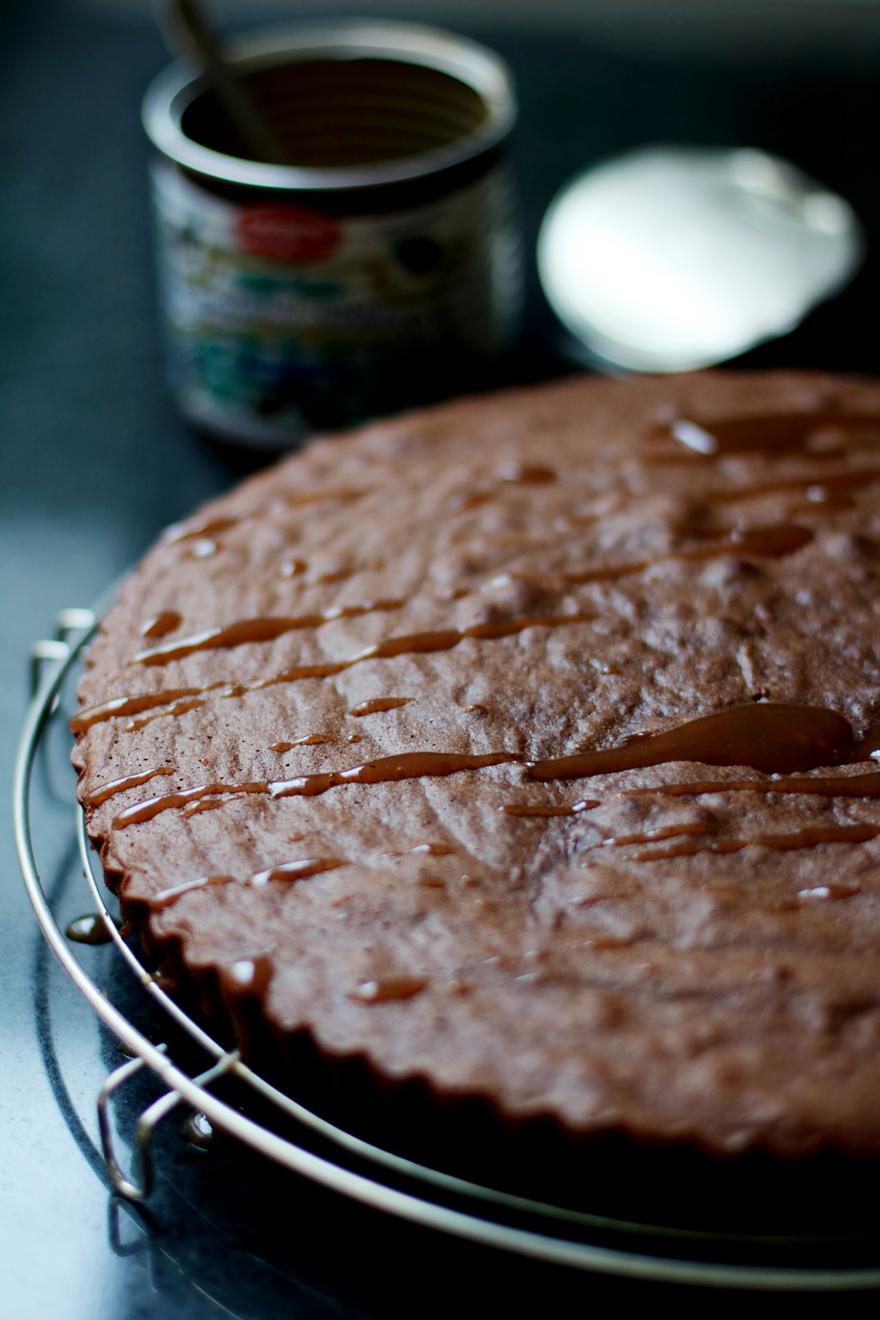 Gâteau à la crème de marron et au chocolat (sans gluten)
