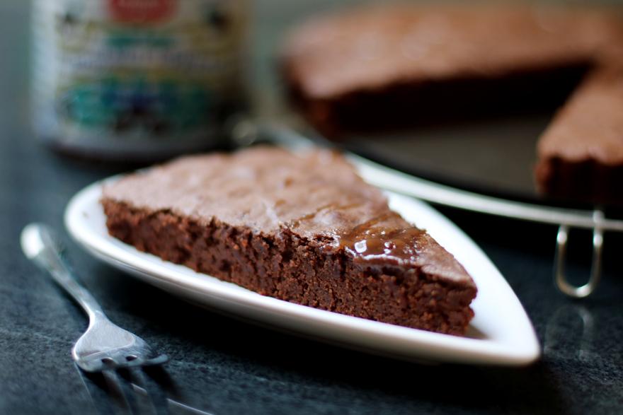 Gâteau marron chocolat sans gluten