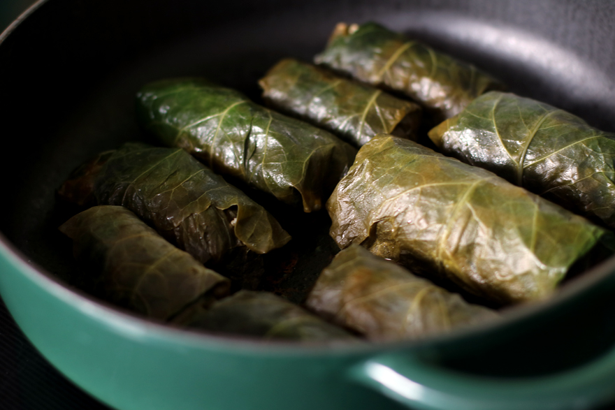 Cuisson des dolmades